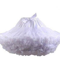 Saia Tutu Felpuda em Crinolina Sexy Sissy Cross Dress Maid Mini Skirt Fluffy Vestuário