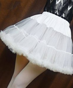 Saia Tutu Feminina Com Babados Crinolina Sexy Sissy Mini Skirt Vestuário