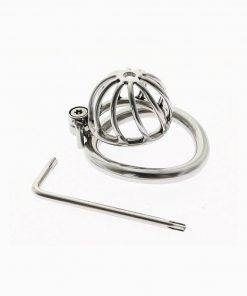 Cinto de Castidade Twisted Chastity Cage Arc Ring Sem Cadeado Cintos de Castidade
