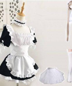 Fantasia Empregada Doméstica Maid Conjunto Sissy Cosplay Vestuário